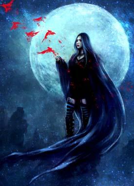 月亮落在摩羯座