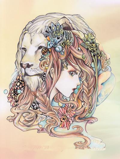 狮子座女生的优点:坚毅